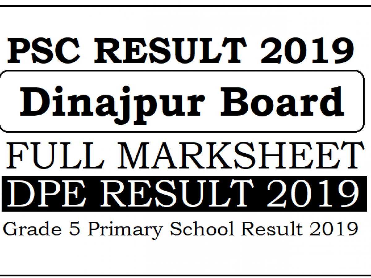 Psc result 2020 rajshahi board