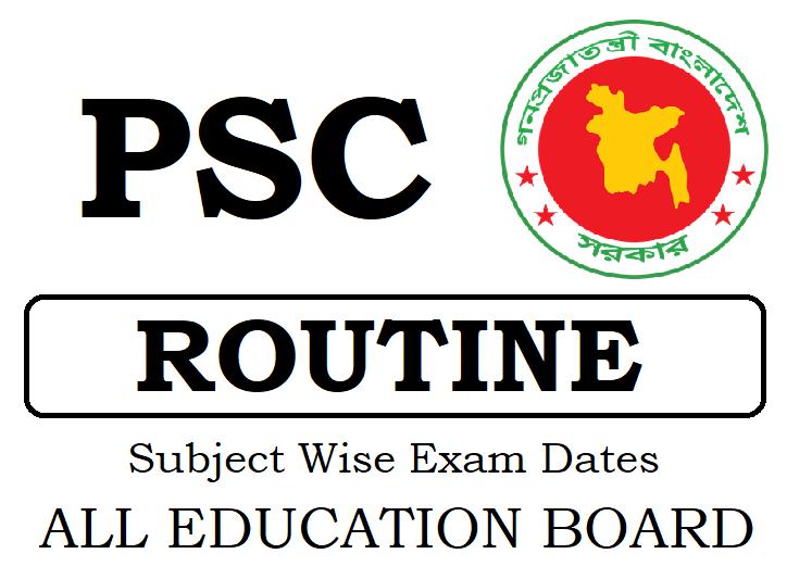 PSE Routine 2019, DPE Grade 5 Exam Dates 2019
