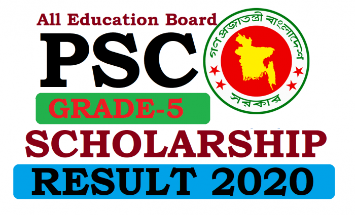 PSC Scholarship Result 2020 All Education Board